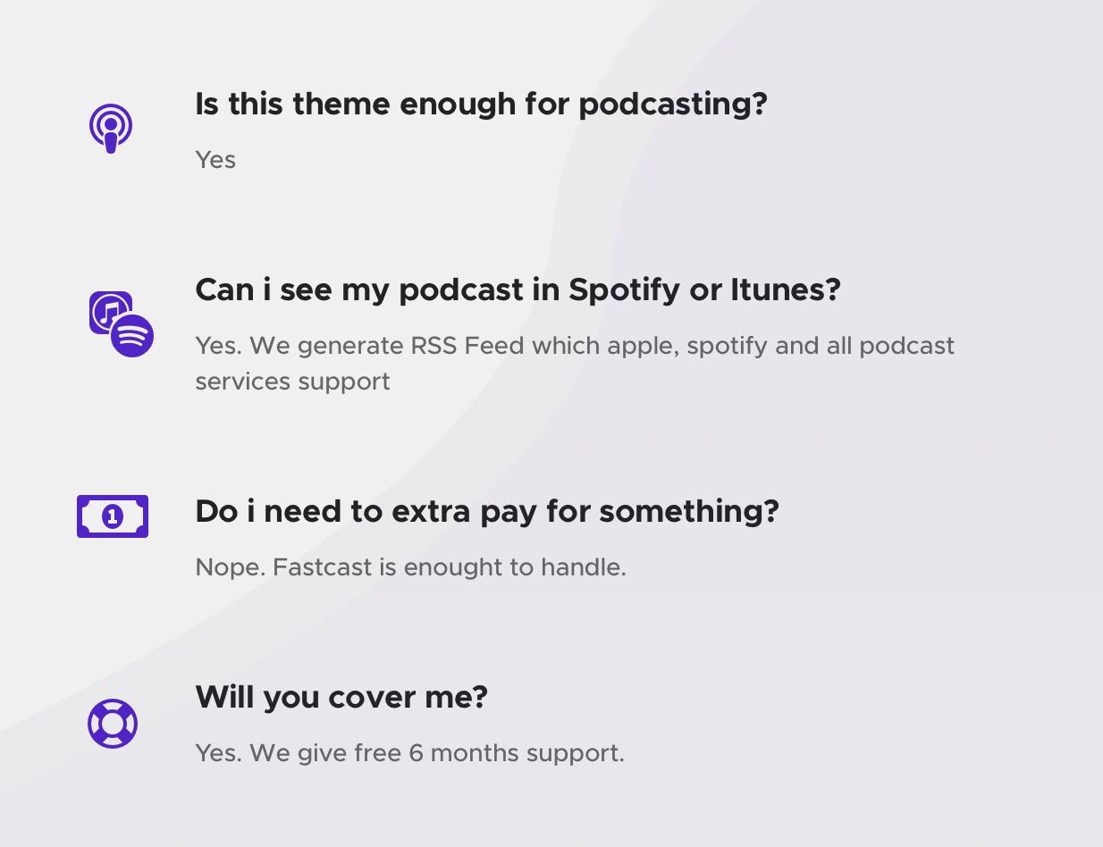 Fastcast - Podcast WordPress Theme + 8 Skins + Dark & White Mode - 1